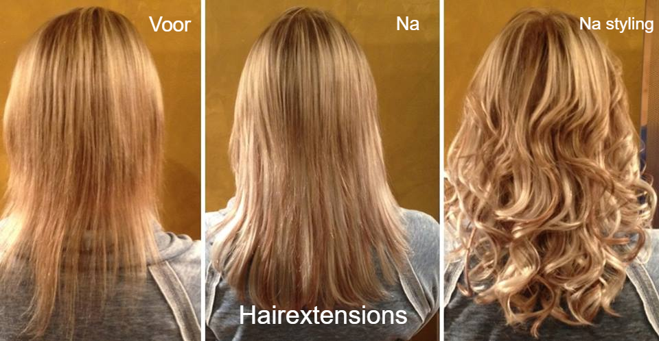 Hairextensions voor en na - People & Beauty